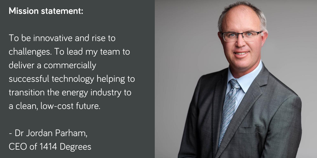 Jordan's Mission statement: To be innovative and rise to challenges. To lead my team to deliver a commercially successful technology helping to transition the energy industry to a clean, low-cost future.